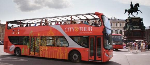 Ситисайтсиинг Экскурсия на двухэтажном автобусе в СПб